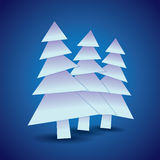 Three snowy Christmas trees Royalty Free Stock Images