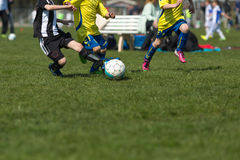 Three soccer players Royalty Free Stock Photography