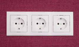 Three sockets Royalty Free Stock Images