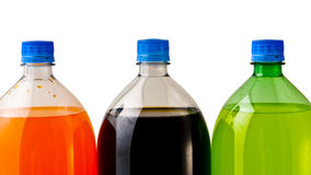 Three Soda Bottles Stock Photography