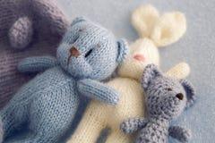Three soft toy bears Stock Photos
