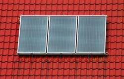 Three Solar panel stock photography