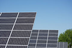 Three solar panels Royalty Free Stock Image