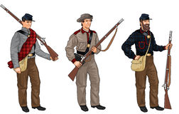 Three Soldiers from American Civil War Stock Photo