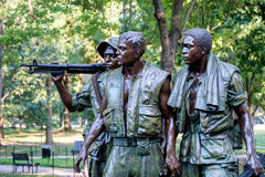 The Three Soldiers statue commemorating the Vietnam War in Washington D.C. Royalty Free Stock Photo