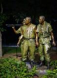 Vietnam veterans war statue - 3 soldiers stock photos