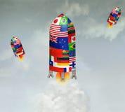 Three Spaceships Stock Image