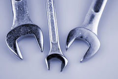 Three spanners Royalty Free Stock Photo