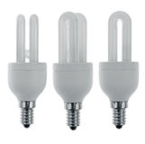 Three spare light bulbs Royalty Free Stock Images