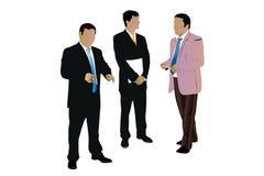 Three Speaking Businessman Royalty Free Stock Photos