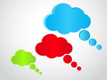 Three speech bubbles Stock Photo