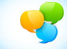 Three speech bubbles Stock Images