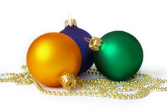 Three spheres and garland Stock Photo