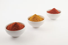 Three Spice bowls Royalty Free Stock Images