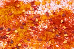 Three spices background II Royalty Free Stock Photos