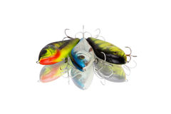 Three spinning lures Royalty Free Stock Photography