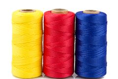Three Spools Of Thread Isolated Royalty Free Stock Images