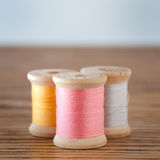 Three Spools of Thread Royalty Free Stock Photography