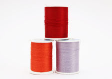 Three Spools of Thread Stock Photo