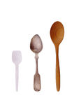 Three spoons Royalty Free Stock Image