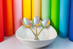 Three spoons Stock Photography