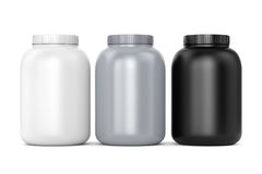 Three sport supplements can Stock Image