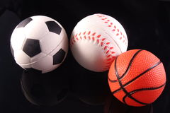 Three sports. Three most popular sports in the world Stock Photo