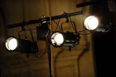 Three spotlights Royalty Free Stock Photography