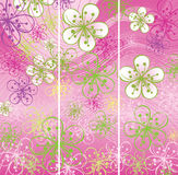 Three Spring banners.Flowers abstract background. Three Spring banners.Spring background or summer background.Cherry Flowers or Apple Flowers  in soft colors Stock Image