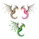 Three spring dragons Royalty Free Stock Photography