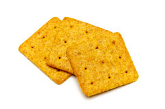 Three square crackers Royalty Free Stock Photos