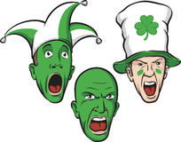 Three st patrick day party guys. Vector illustration of three st patrick day party guys. Easy-edit layered vector EPS10 file scalable to any size without quality Stock Images