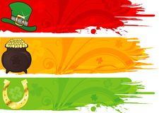 Three St. Patrick's Banner Stock Images