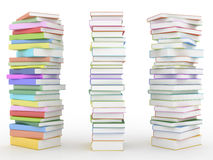 Three stack of books Royalty Free Stock Photos