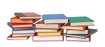 Three stack of colorful books Stock Image