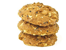 Three stack cookies Royalty Free Stock Photography