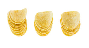Three stack Potato chips Royalty Free Stock Photos