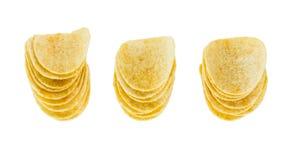 Three stack Potato chips Royalty Free Stock Photos