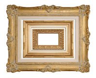 Three Stacked Antique Frames Stock Images