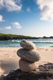 Three Stacked Stones Stock Images