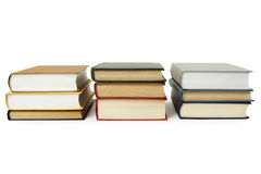 Three stacks of books in hard cover Stock Photography