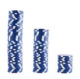 Three stacks of casino chips Royalty Free Stock Image