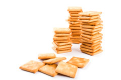 Three stacks of cookie Stock Photography