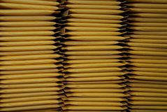 Three Stacks of Padded Mailing Envelopes Royalty Free Stock Photography