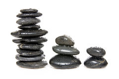 Three stacks of stones Stock Photography