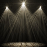 Three stage spot lighting Royalty Free Stock Photos