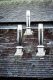 Three stainless steel chimneys Royalty Free Stock Images