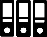 Three Standing Folder icon. Vector Royalty Free Stock Image