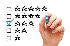 Three Star Average Rating Concept royalty free stock photo