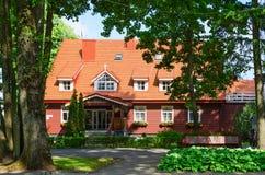 Three star hotel Raze, Palanga, Lithuania. PALANGA, LITHUANIA - JULY 12, 2015: Three star hotel Raze in popular resort town of Palanga, Lithuania Stock Image
